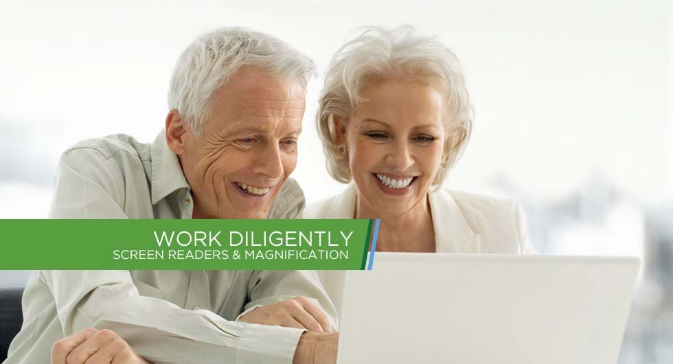 Work Diligently - Screen Readers & Magnification